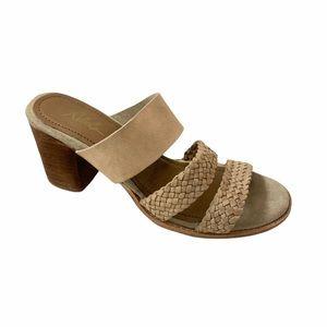 REBELS Sabrina Sand Tan Heel Leather Sandal 9 NWOT